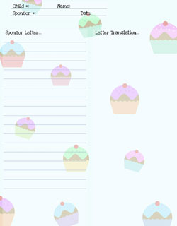 free printable stationery for sponsored kids