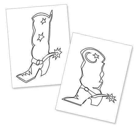 cowboy boots paper cut out