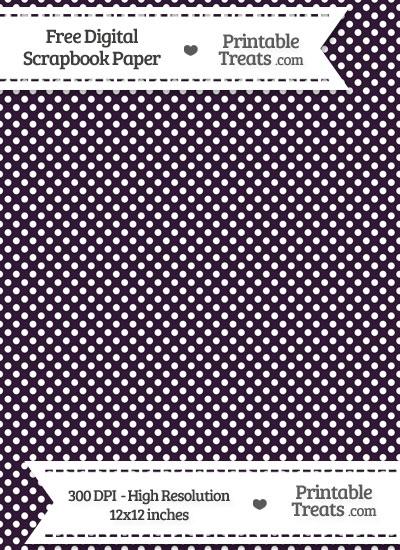 Dark Purple Raised Mini Polka Dots Digital Paper from PrintableTreats.com