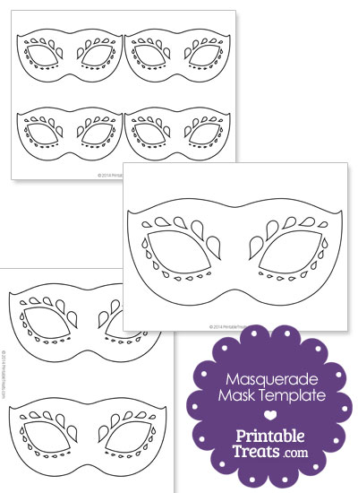 Decorative Masquerade Mask Template  Printable TreatsCom