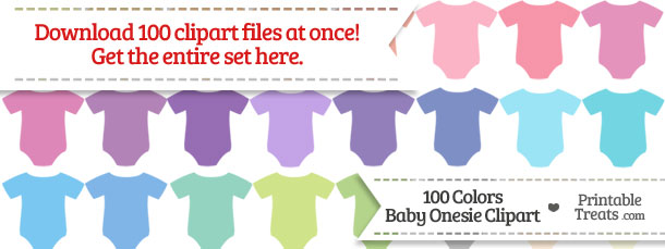 Download 100 Colors Baby Onesie Clipart from PrintableTreats.com