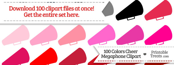Download 100 Colors Cheer Megaphone Clipart from PrintableTreats.com