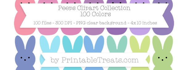 Download 100 Colors Peeps Clipart from PrintableTreats.com
