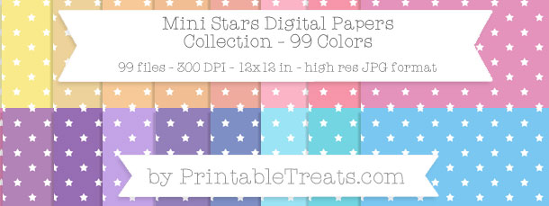 Download 99 Colors Mini Stars Digital Paper from PrintableTreats.com