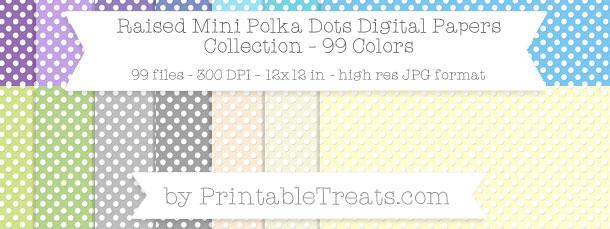 Download 99 Colors Raised Mini Polka Dots Digital Paper from PrintableTreats.com