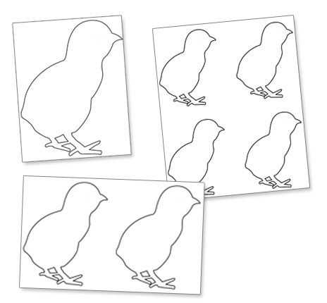Easter chick template printable printable for Easter chick templates free