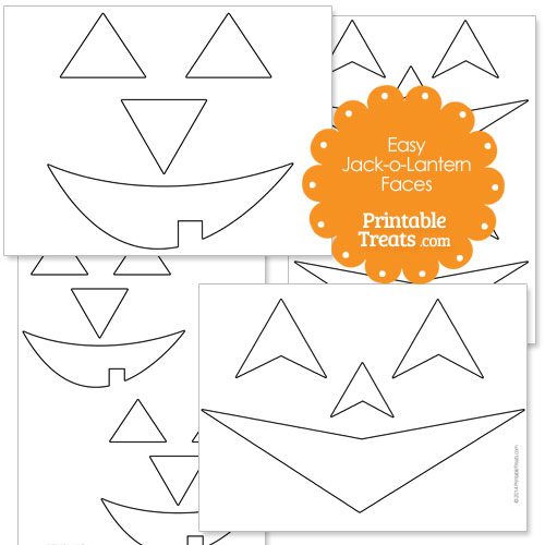 Easy Printable Jack o Lantern Faces — Printable Treats.com