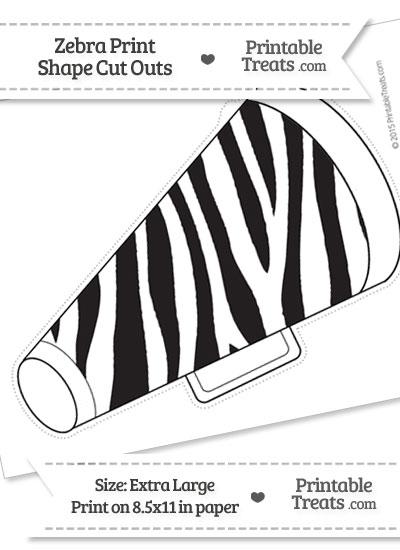 extra large zebra print cheer megaphone cut out printable. Black Bedroom Furniture Sets. Home Design Ideas