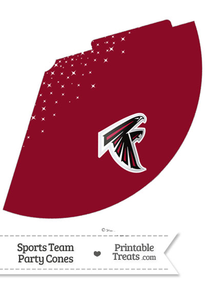 Falcons Party Cone Printable from PrintableTreats.com