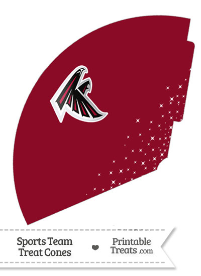 Falcons Treat Cone Printable from PrintableTreats.com