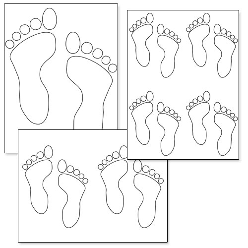 graphic about Footprint Printable identify Footprint Determine Printable Printable