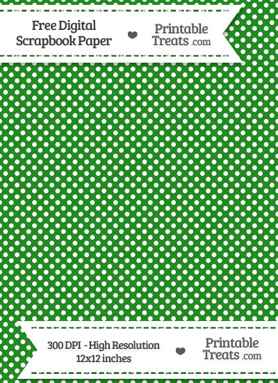 Forest Green Raised Mini Polka Dots Digital Paper from PrintableTreats.com
