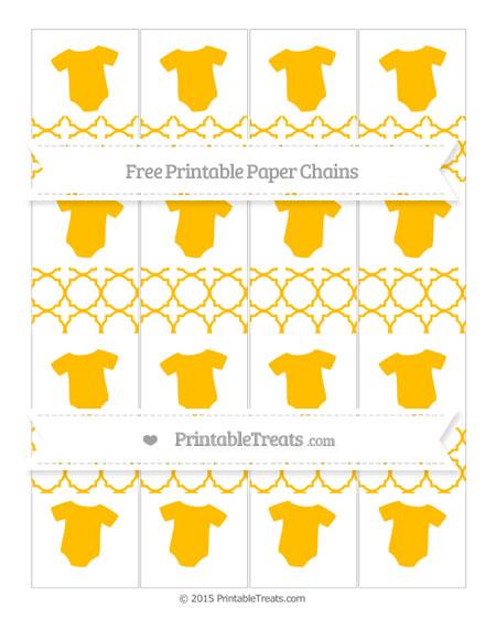 Free Amber Quatrefoil Pattern Baby Onesie Paper Chains