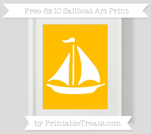 Free Amber Sailboat 8x10 Art Print