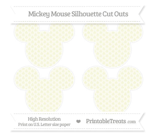 Beige fish scale pattern medium mickey mouse silhouette for Fish scale coke cut
