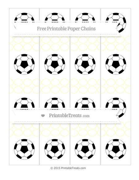 Free Cream Quatrefoil Pattern Soccer Paper Chains