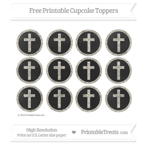 Free Cross Cupcake Toppers with Eggshell Chalk