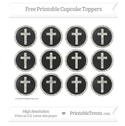 Free Cross Cupcake Toppers with Ivory Chalk