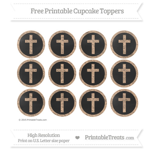 Free Cross Cupcake Toppers with Pastel Orange Chalk