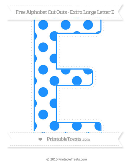 pattern extra large capital letter e cut outs printable treatscom