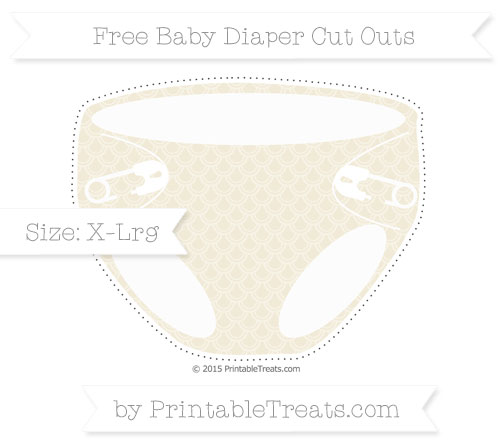 diaper cut out template - eggshell fish scale pattern extra large baby diaper cut