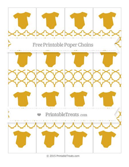 Free Gold Quatrefoil Pattern Baby Onesie Paper Chains