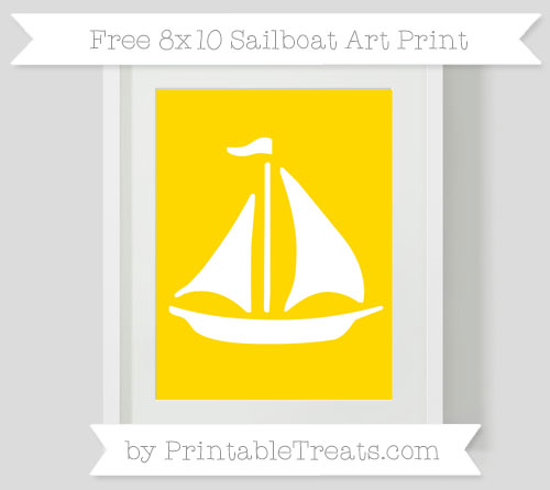 Free Goldenrod Sailboat 8x10 Art Print