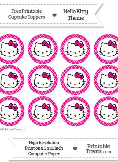 Free magenta moroccan tile hello kitty cupcake toppers printable free magenta moroccan tile hello kitty cupcake toppers maxwellsz