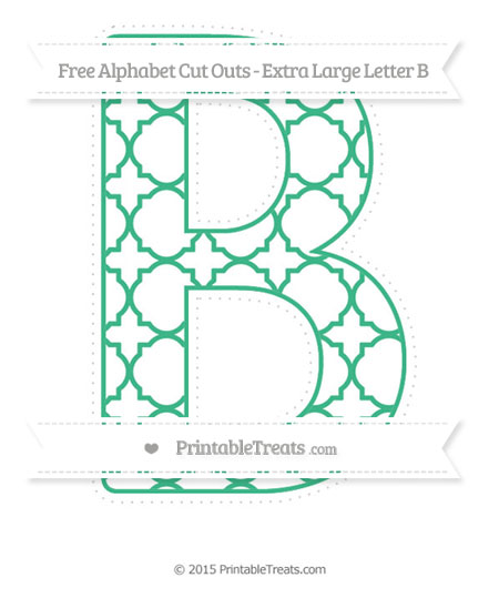 pattern extra large capital letter b cut outs printable treatscom