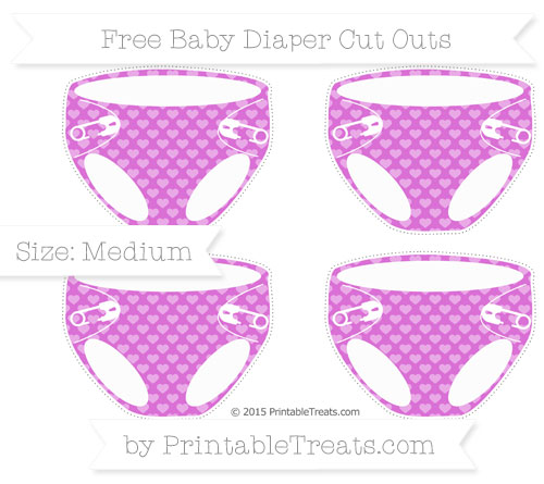 Orchid heart pattern medium baby diaper cut outs for Diaper cut out template