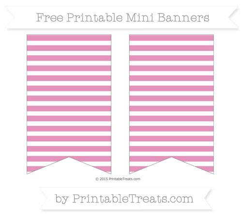 Free Pastel Bubblegum Pink Horizontal Striped On White Simple Mini Banners