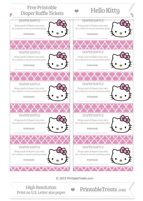 free pastel bubblegum pink moroccan tile hello kitty