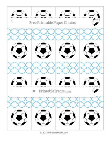 Free Pastel Light Blue Quatrefoil Pattern Soccer Paper Chains