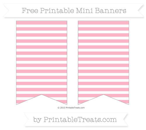 Free Pastel Light Pink Horizontal Striped On White Simple Mini Banners