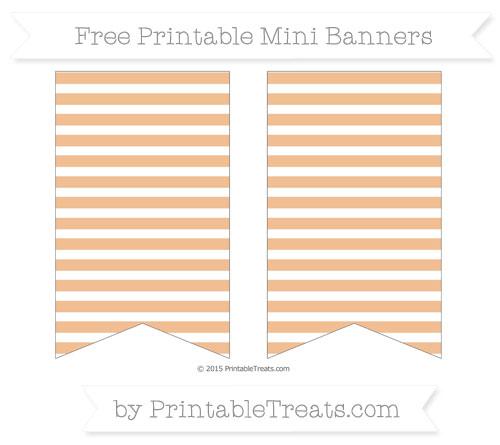 Free Pastel Orange Horizontal Striped On White Simple Mini Banners