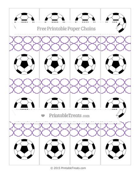 Free Pastel Plum Quatrefoil Pattern Soccer Paper Chains