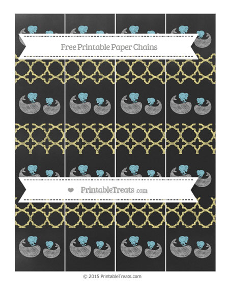 Free Pastel Yellow Quatrefoil Pattern Chalk Style Baby Whale Paper Chains