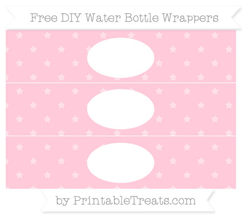 pink star pattern diy water bottle wrappers printable treats com