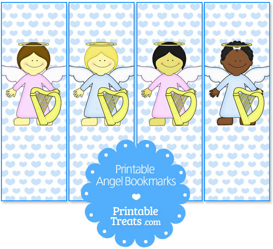 photo relating to Free Printable Angels called Free of charge Printable Angel Bookmarks Printable