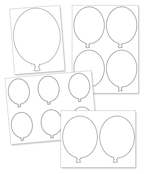 Outlines Printables Printable Balloon Outlines