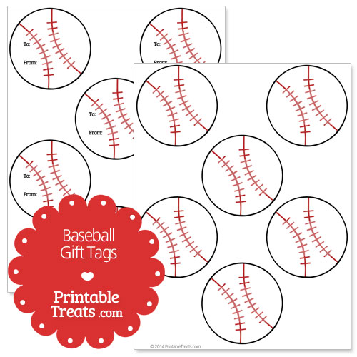 Free printable baseball gift tags printable treats free printable baseball gift tags negle Gallery