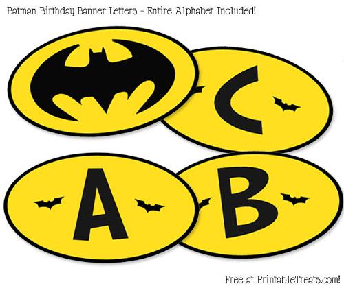 Free Printable Batman Birthday Banner — Printable Treats.com
