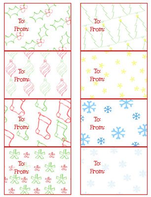 Free Printable Christmas Gift Tags — Printable Treats.com