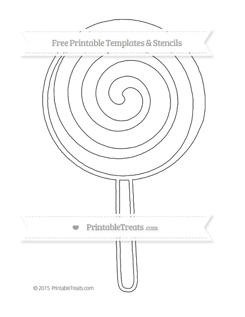 Printable Lollipop Coloring Page