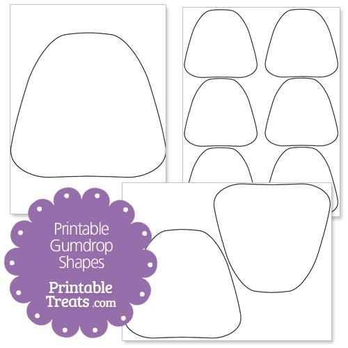 Free Printable Gumdrop Shapes — Printable Treats.com