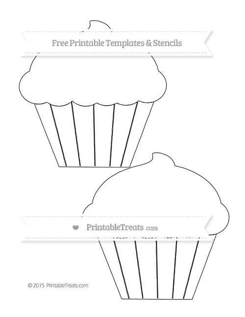 free printable large cupcake template printable treats com - Free Printable Templates