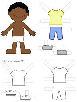 photo relating to Free Printable Paper Dolls titled Absolutely free Printable Paper Dolls: Boys! Printable