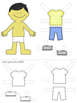 photograph about Printable Paper Dolls Clothes called Free of charge Printable Paper Dolls: Boys! Printable
