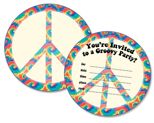 free printable peace sign birthday invitations printable treats com