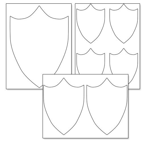 Free Printable Shield Template — Printable Treats.com